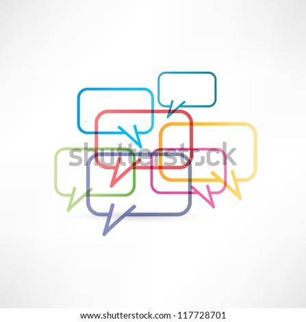 chat box icon design - stock vector