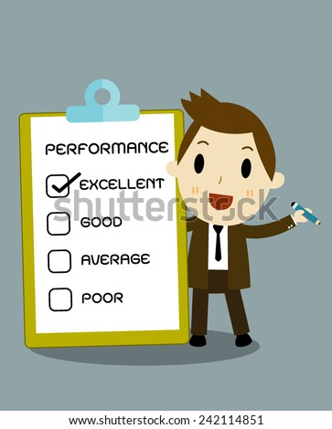 check box, business concept cartoon vector eps 10 - stock vector