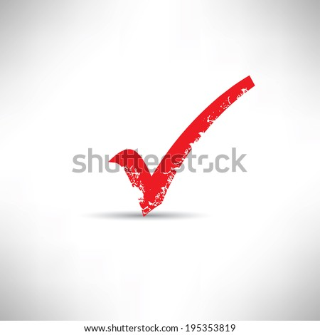 Check mark symbol,grunge vector - stock vector