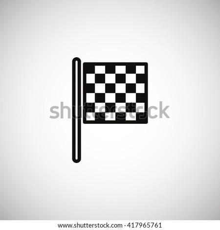 Checkered Flag Icon Vector.  - stock vector