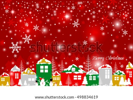 Christmas design of home in the winter