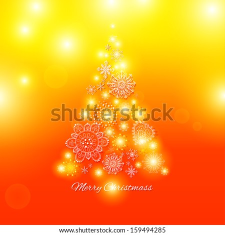 Christmas tree, Abstract Christmas Background
