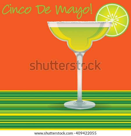 """Cinco de Mayo"" Margarita card in vector format. - stock vector"
