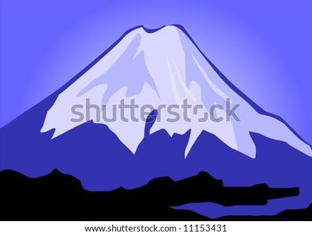 cliffs of mount Everest - stock vector
