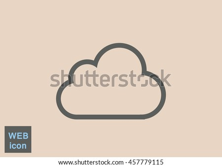 Cloud icon Flat.  - stock vector