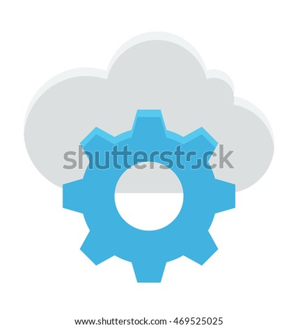 Cloud Settings Vector Icon