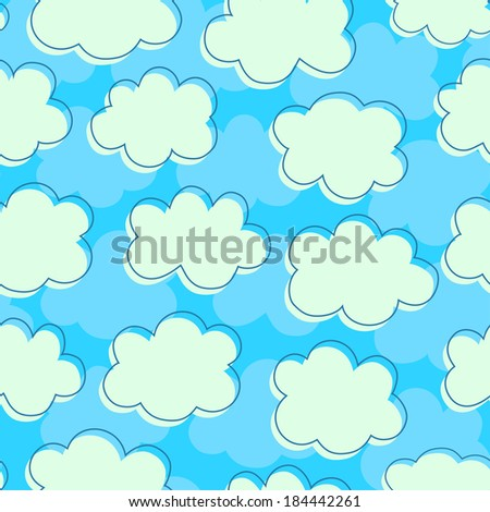 cloudy sky. seamless pattern