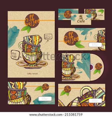 coffee concept design. Corporate identity - stock vector