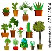 Collection room plants - stock vector