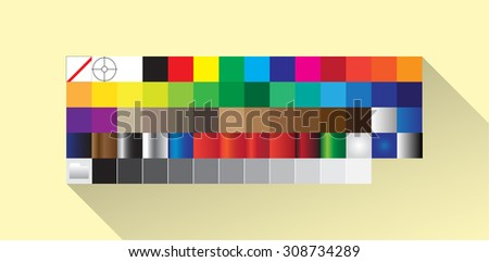Color Palette panel in flat design, software application - stock vector