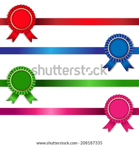 4 Color Rosette, Vector Illustration - stock vector