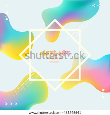 Colorful background with white frame
