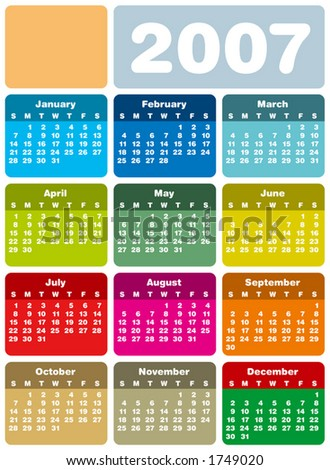 2007 Calendar Stock Images, Royalty-Free Images & Vectors ...