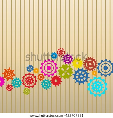 Colorful Gears background.vector - stock vector