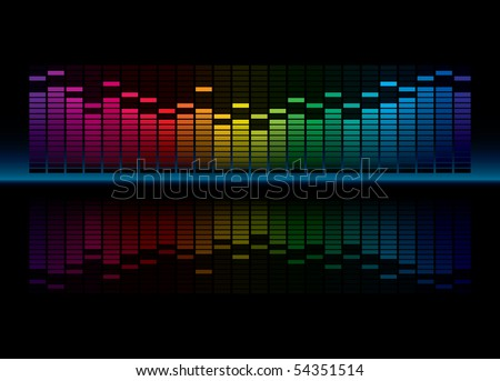 Colorful Graphic Equalizer Display (editable vector)