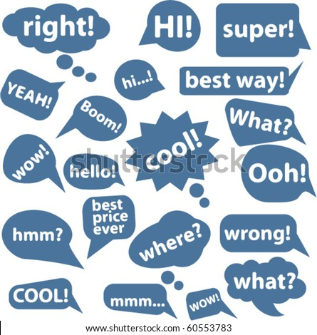 20 comic style chat bubbles. vector - stock vector