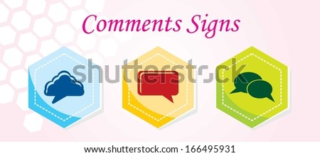 3 Comments Icons - stock vector