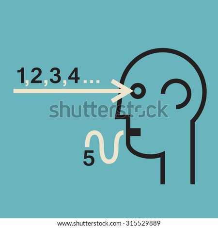 common sense in future prediction and pattern recognition,educated guess  - stock vector