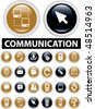 20 communication buttons. vector - stock vector