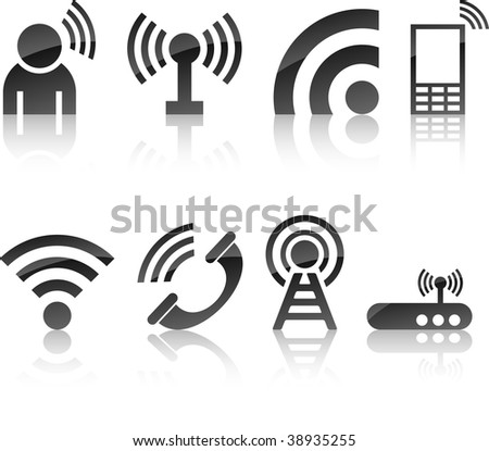 Communication icon collection. Vector illustration.