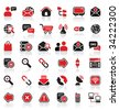 36 communication logo icons - stock photo
