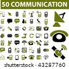 50 communication signs. vector - stock photo
