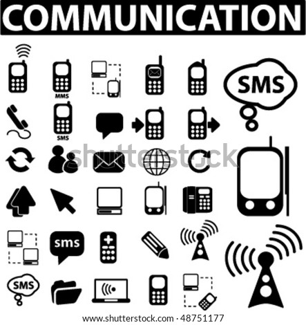30 communication signs. vector