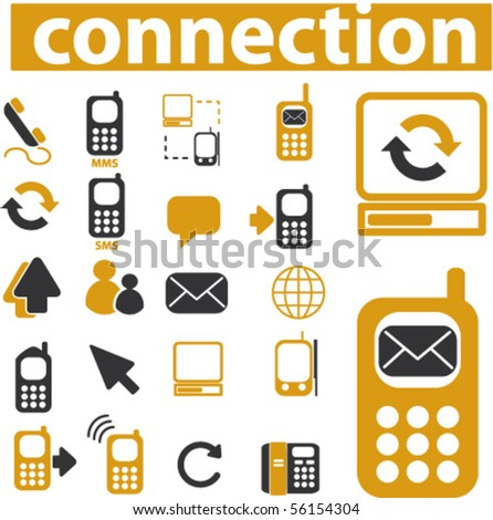 20 communication signs. vector - stock vector