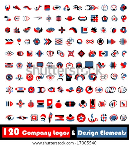 120 Company Logos & Design elements (vector) - stock vector