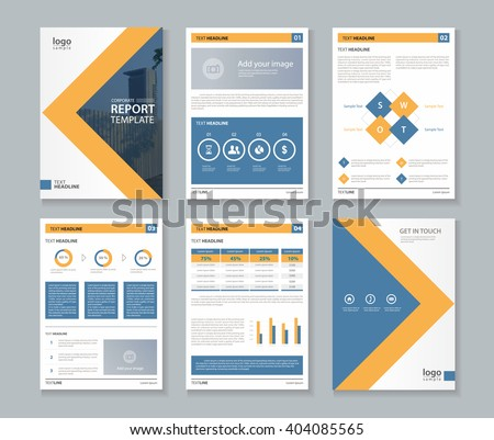 company profile ,annual report , brochure , fl yer, layout template,page layout,and business info chart element, A 4  ,vector editable  - stock vector