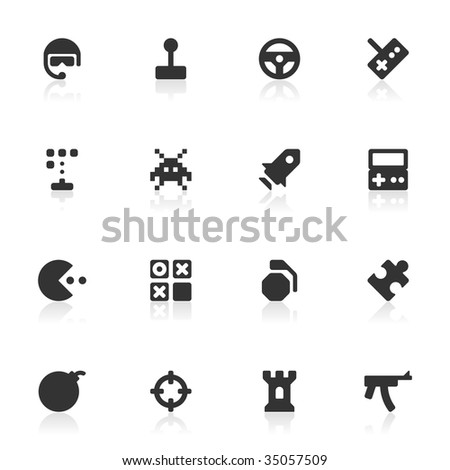 16 computer and leisure game icons for your website or software. More sets in this series available in my portfolio. - stock vector