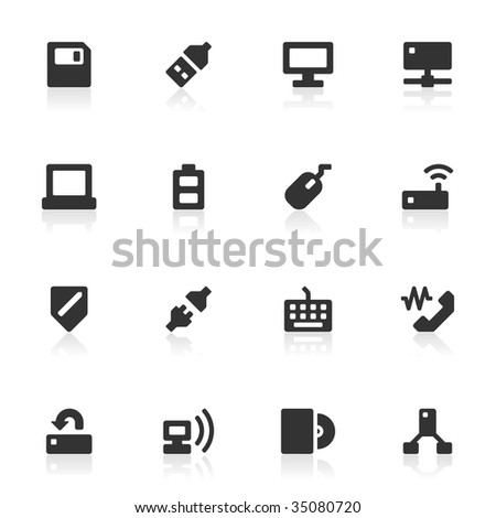 16 computer related icons. More sets in this series available in my portfolio.
