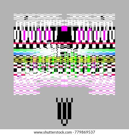 Computer Screen Error Templates Digital Pixel Stock Vector 779869537