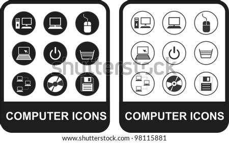 Computing Icons - stock vector