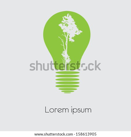 Concept  tree in light bulb symbol of renewable energy