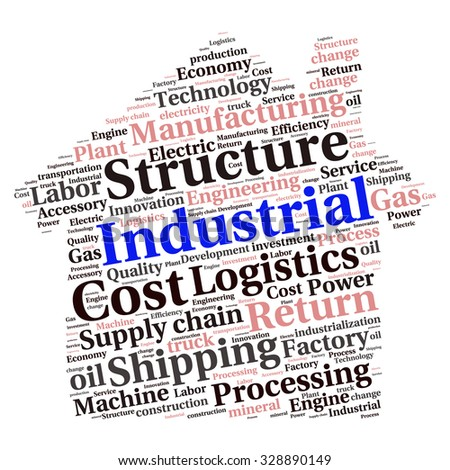 conceptual Industrial or Logistics text word cloud tagcloud