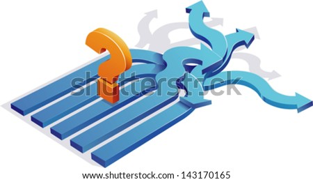 confusion/Decision Making/ - stock vector