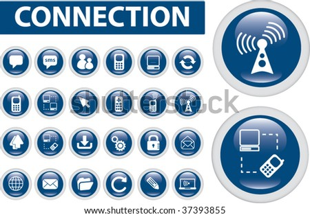 24 connection buttons. vector