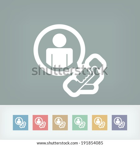 """""""Contact us"""" icon - stock vector"""
