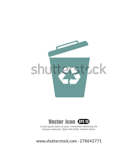 container  vector icon - stock vector