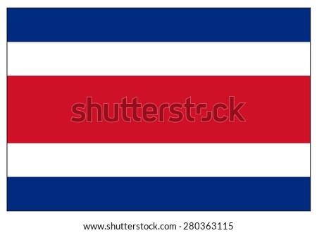 Costa Rica flag - stock vector