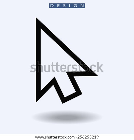 cursors icon, vector illustration. Flat design style  - stock vector