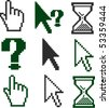 9 cursors signs. vector - stock photo