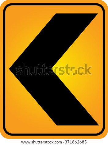 Curve warning sign,traffic sign - stock vector