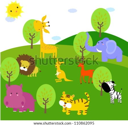 cute animal in forest