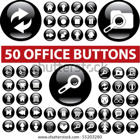 50 cute grand buttons. vector