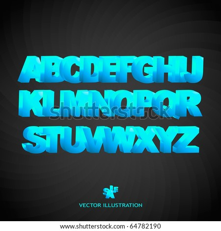 3d abc illustration. Vector set. - stock vector