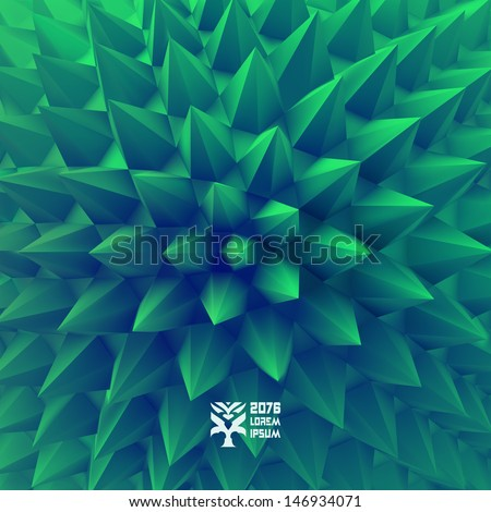 3D abstract background. Vector illustration. - stock vector