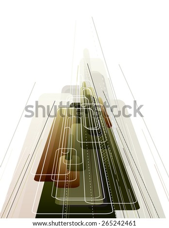 3D Abstract Dynamic Background. Vector Illustration in Eps10 Format. - stock vector