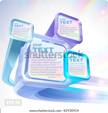 3d abstract flying fluorescent screens monitors. Eps10. - stock vector